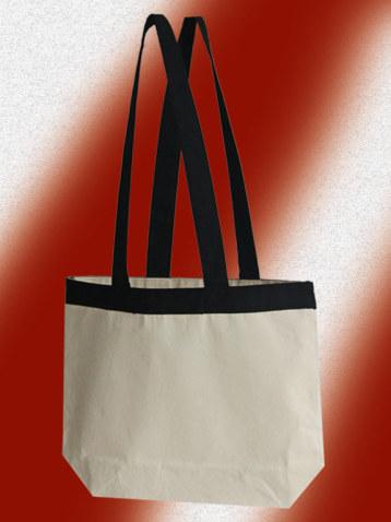 Canvas Taschen naurfarben mit schwazen griffen und verstärkungen Tragetaschen aus Canvas beige schwaz