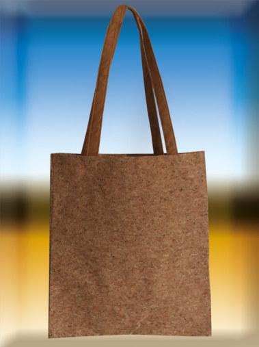 Korktaschen Korktragetasche aus braunem naurkork mit langen braunen henkel
