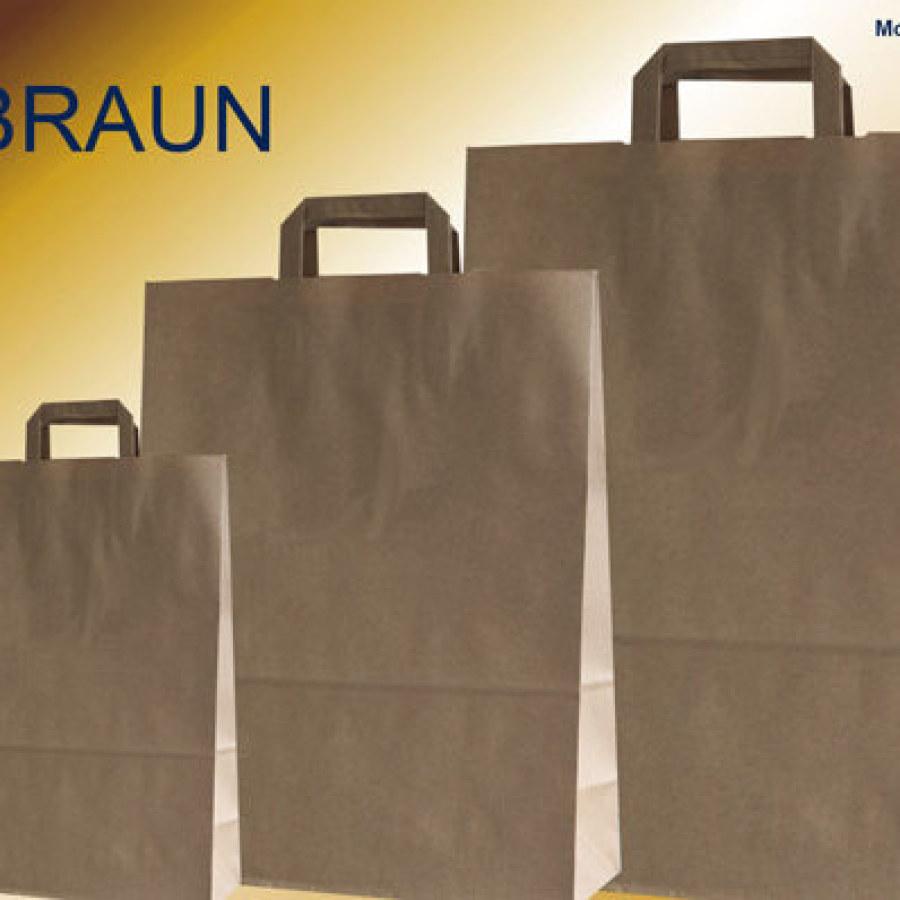 Papiertüten braun bei Tragetaschen-kaufen.de