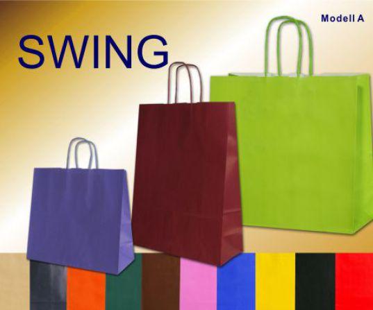 Papiertaschen in verschiedenen Farben schwarz, lemon, blue, gelb, pink, mocca, sand, rot, bordeaux, dunkelgrün und violett