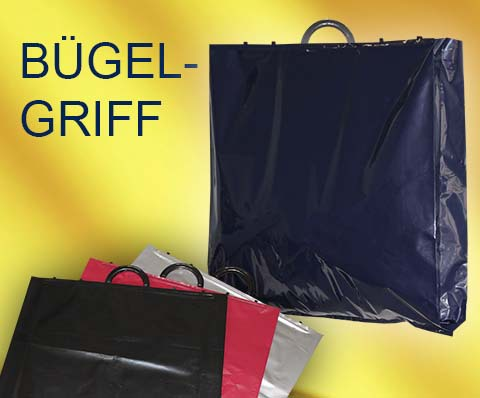 Kunststoff Taschen Plastiktaschen mit verschließbaren Griffen Bügelgriff