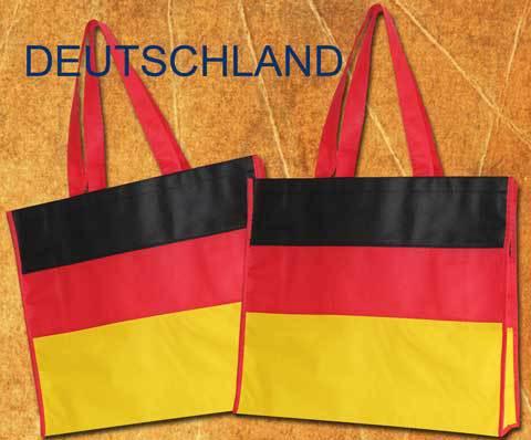 Tragetaschen Deutschland Non Woven Tasche in den Farben der BRD mit roten halblangen griffen