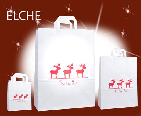 Weihnachtstüten günstig mit Elch Elche Motiv kaufen