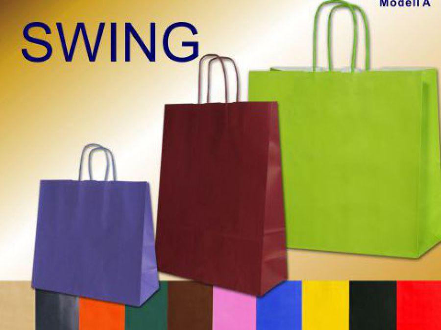 Papiertaschen farbig in verschiedenen Farben schwarz, lemon, blue, gelb, pink, mocca, sand, rot, bordeaux, dunkelgrün und violett mit Papierkordel