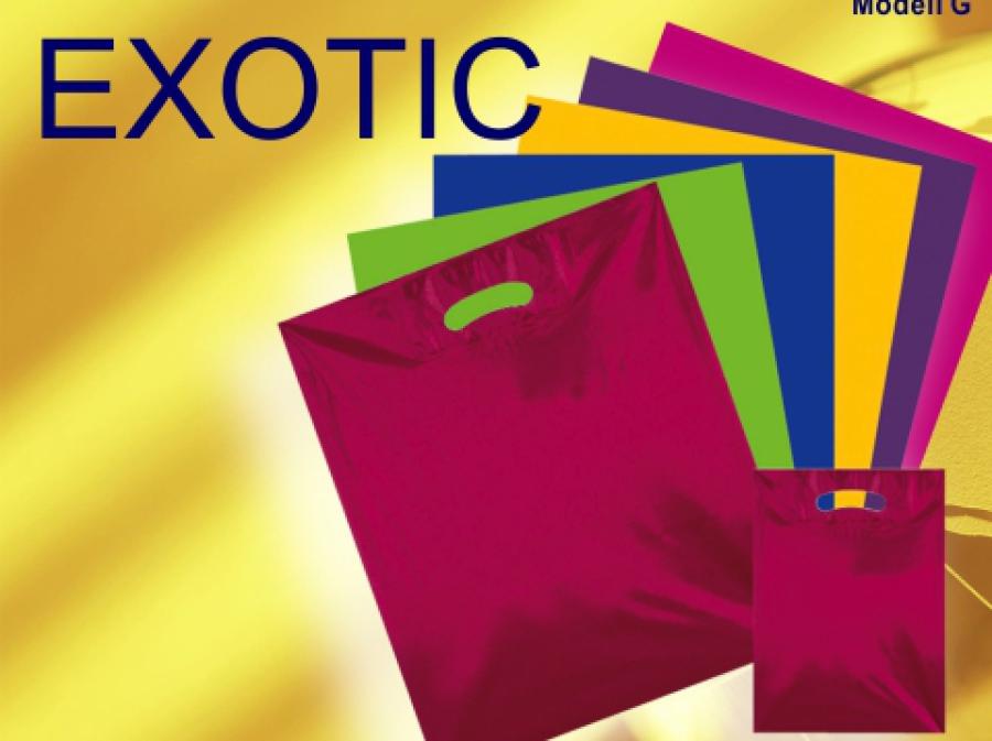 Plastiktüten und Kunststofftaschen neutral bunt in verschiedenen Farben wie blau - gelb- grün- vilolett - pink und violett