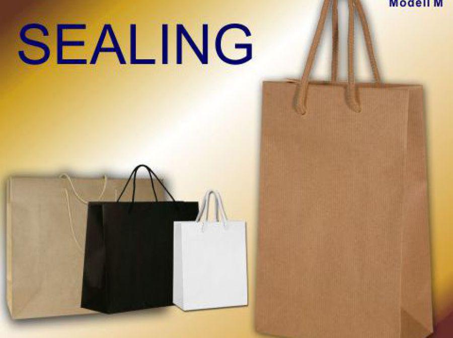 Tragetaschen aus Papier gerippt Sealing Papier weiß braun oder schwarz